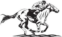 Reiter mit Kopf